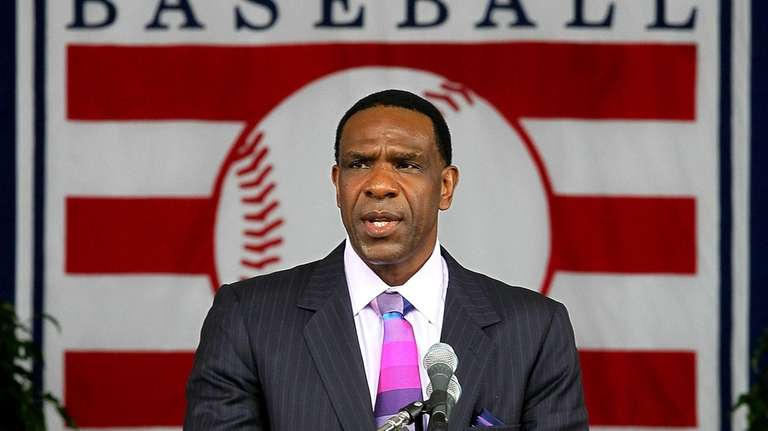 Andre Dawson gives his Hall of Fame induction