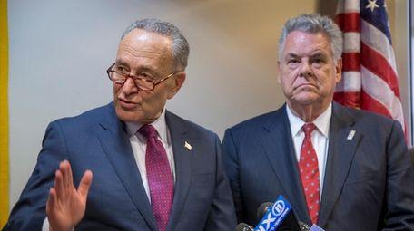 Senate Minority leader Chuck Schumer and Rep. Peter