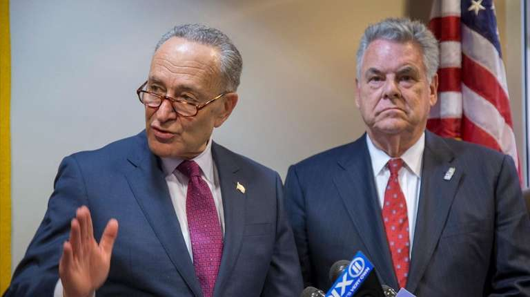 Senate Minority leader Chuck Schumer and Rep. Peter