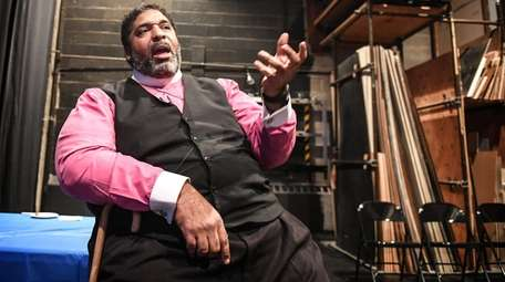 Reverend Dr. William J. Barber II speaks backstage