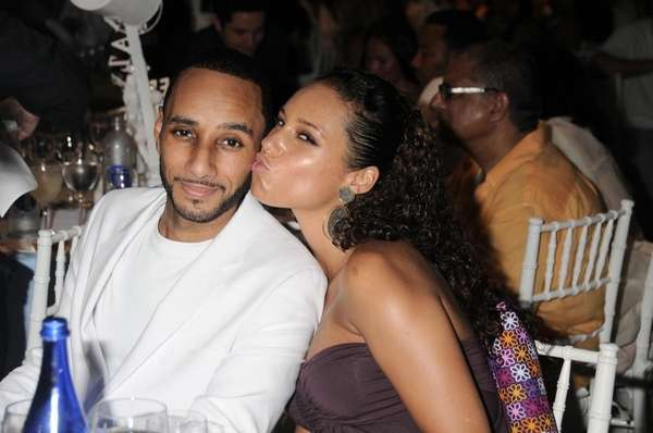 Swiss Beatz and Alicia Keys attend the Art