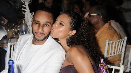 Swiss Beatz and Alicia Keys attend the Art
