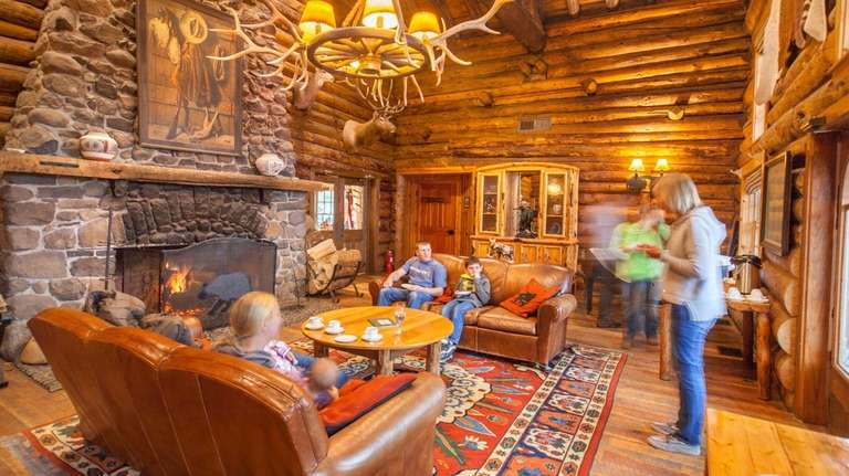 The Tea Room at Brooks Lake Lodge in