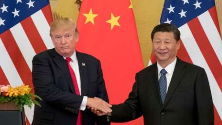 President Donald Trump and Chinese President Xi Jinping,