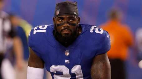 Landon Collins of the Giants looks on during