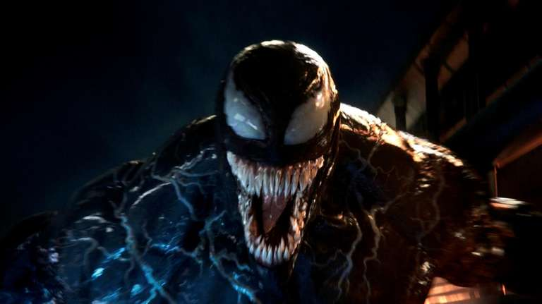 "A dentally enhanced Tom Hardy stars in ""Venom."""