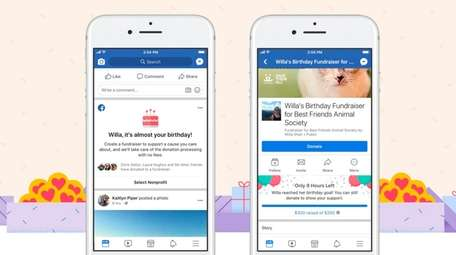 Facebook users can ask friends to donate to