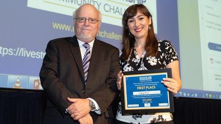Hofstra University President Stuart Rabinowitz with Elnaz Sarabchian,