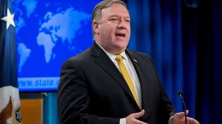 U.S. Secretary of State Mike Pompeo speaks during