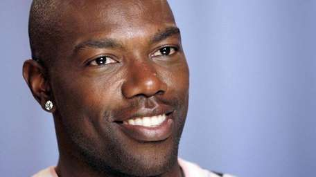 Terrell Owens answers questions in New York. (July