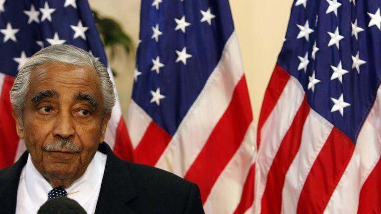 Rep. Charles Rangel (D-N.Y.) speaks to reporters in