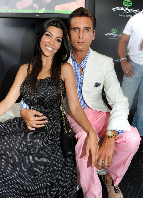 Kourtney Kardashian and Scott Disick at the SWAGG