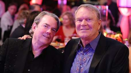 Jimmy Webb and Glen Campbell attend Jane Seymour's