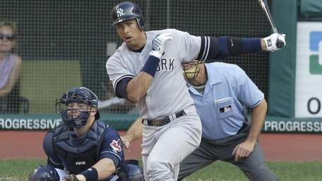 New York Yankees batter Alex Rodriguez grounds out