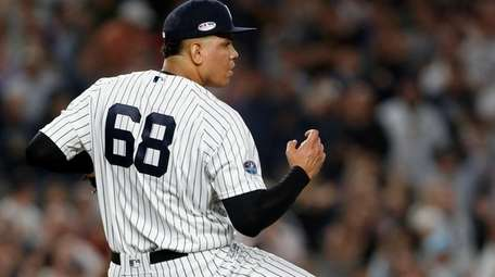 Dellin Betances #68 of the New York Yankees