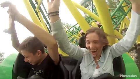 The new Turbulence roller coaster at Adventureland amusement