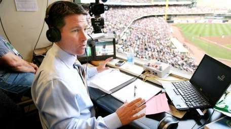 TBS announcer Brian Anderson, who is pictured in