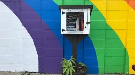 A Little Free Library at the Rainbow Senior
