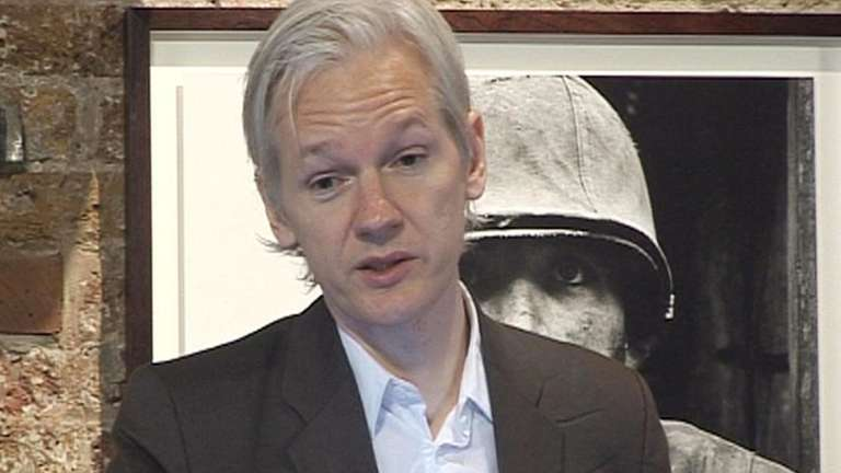 WikiLeaks founder Julian Assange speaks during news conference