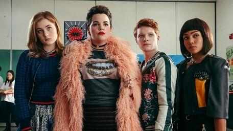 From left, Grace Victoria Cox, Melanie Field, Brendan