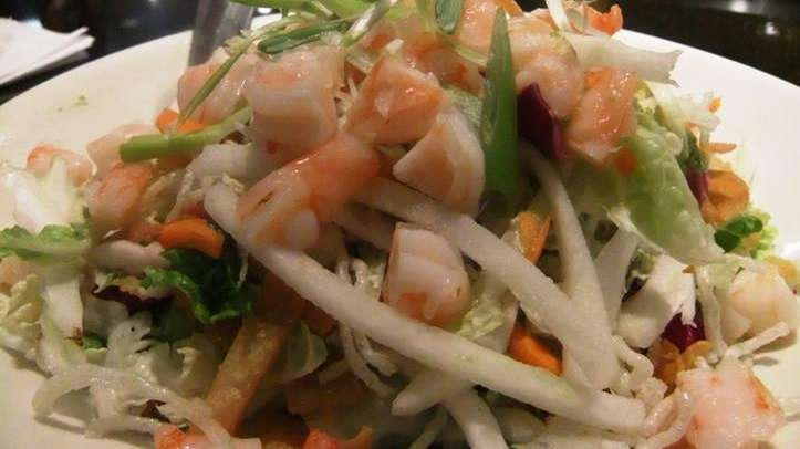 Miso shrimp salad at CPK
