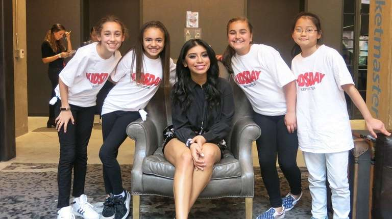 Pentatonix singer Kirstin Maldonado meets Long Island kids