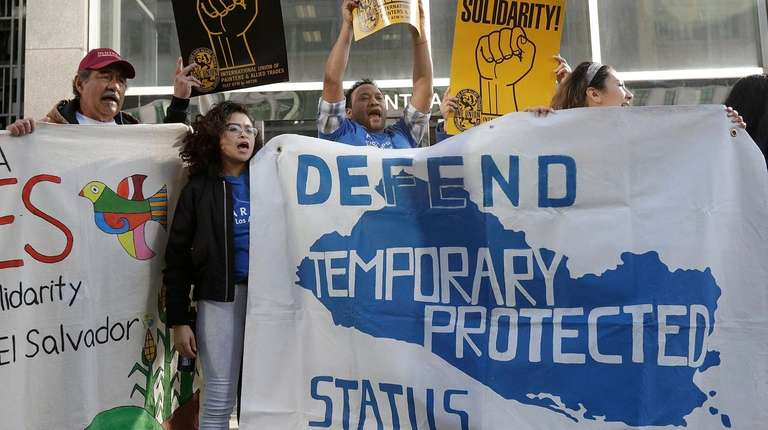Supporters of temporary protected status for immigrants from