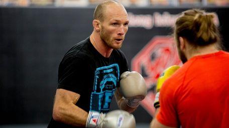 UFC welterweight fighter Ryan LaFlare of Lindenhurst trains