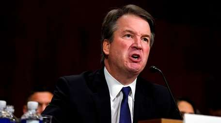 Supreme court nominee Brett Kavanaugh testifies before the