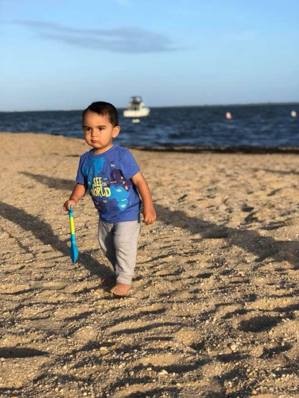 Jayce Francis Giannini, 1, playing in the sand