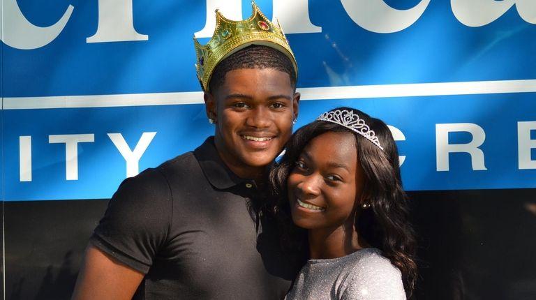 Riverhead High School homecoming king Jeonta Scott and