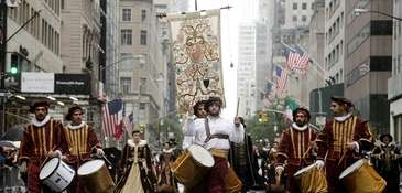 The Columbus Day Parade in New York City