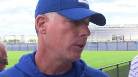 Giants head coach Pat Shurmur met the media