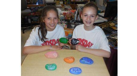 Kidsday reporters Meadow Dalberg, left, and Kaylee Wolfe