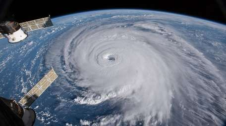 Hurricane Florence as seen from the International Space