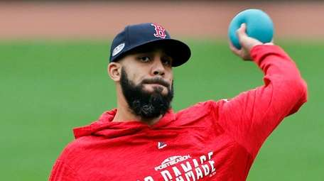 David Price, Boston's Game 2 starter, works out