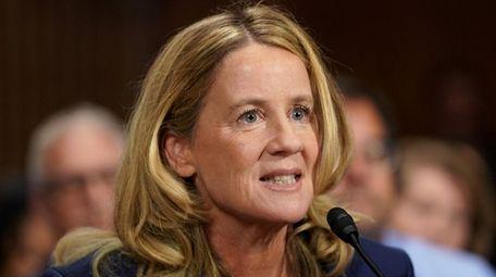 Christine Blasey Ford testifies before the U.S. Senate