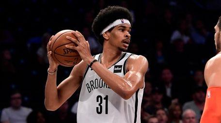 Nets center Jarrett Allen had seven rebounds in