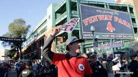 Yankees and Red Sox fans alike gathered together