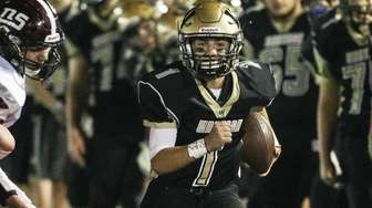 Wantagh's Peter DelGais runs out of bounds in
