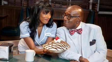 Nicolette Robinson dishes up some pie for Al
