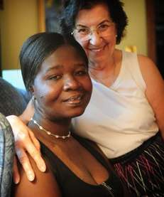 Adwoa Frimpomaa, left, and Jean Valente in their