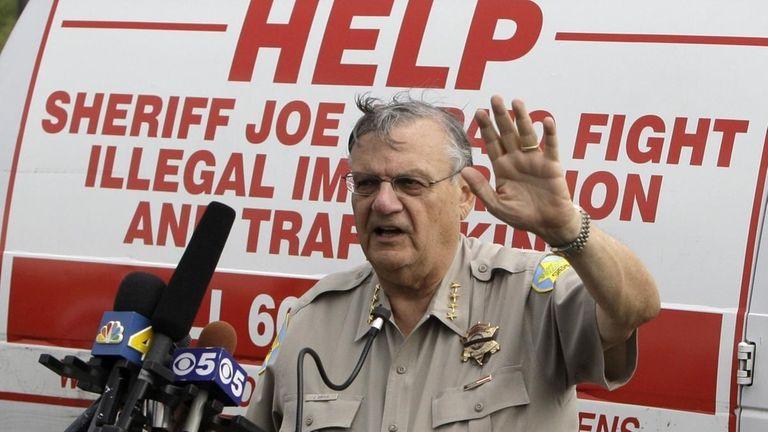 Maricopa County Sheriff Joe Arpaio announces his plans