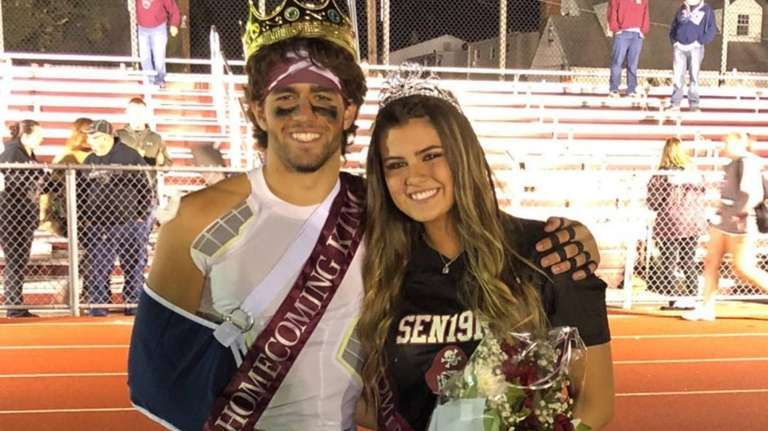 Mepham High School homecoming king and queen Anthony
