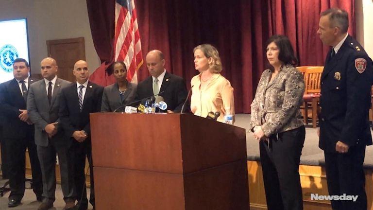Nassau County officials -- County Executive Laura Curran,