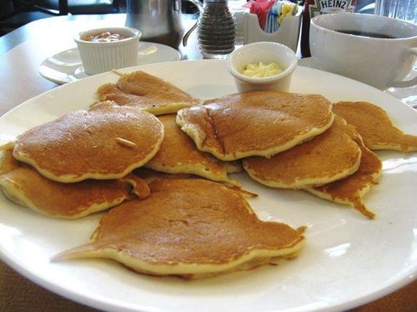 Silver dollar pancakes at Landmark Diner in Roslyn.