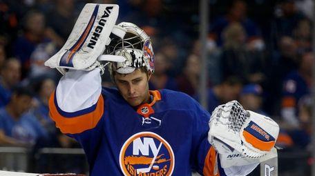 Thomas Greiss #1 of the New York Islanders