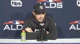 Aaron Boone announced in Saturday's pregame presser that