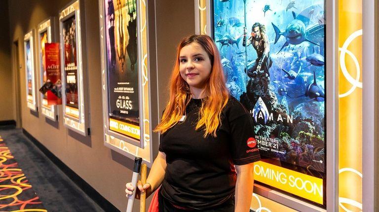 Sarah Biernacki, 15, of Huntington, works as an