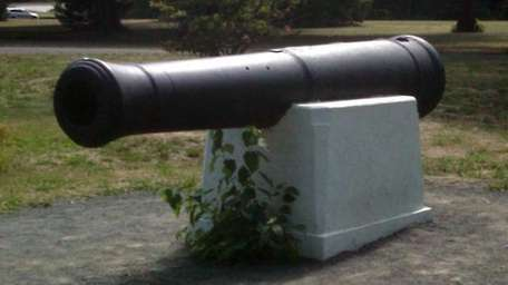 This is one of two cannons at Belmont